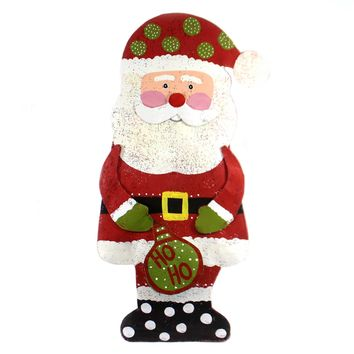 Peri Woltjer HO HO SANTA DOOR HANGER Metal Screenings Hand Made 2020180660