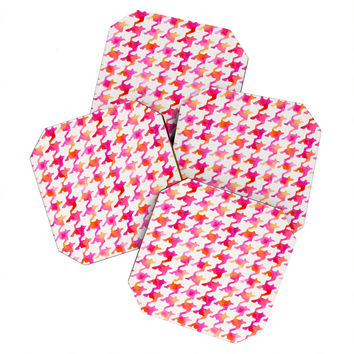 Betsy Olmsted Watercolor Houndstooth Coaster Set