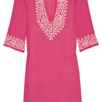 Discount Melissa Odabash Briony embroidered cotton kaftan | THE OUTNET