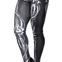 Alien Skeleton Leggings Design 188