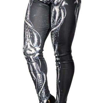 Alien Skeleton Leggings Size Large