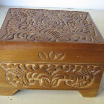 Wooden box ,wood box ,small wooden box ,small wood box ,wood jewelry box ,old wooden boxes ,carved wooden boxes ,carved wood box ,vintage