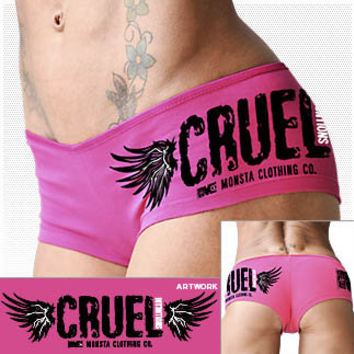 Cruel Intentions Booty Shortie/Shorts: Pink Bodybuilding, Powerlifting, Weightlifting and Workout Clothing [W-SRT-129-PK] - $12.99 : Monsta Clothing Co, Bodybuilding Clothing, Powerlifting Apparel, Weightlifting Shirts, Workout Clothes and MORE