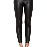 PU Leather Bowknot Leggings