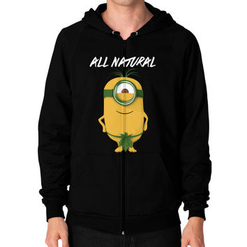 ALL NATURAL MINION Zip Hoodie (on man)