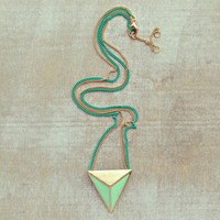 MINT GEOMETRIC AFFECTIONS NECKLACE