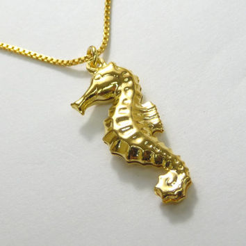 Best gold seahorse necklace products on wanelo gold seahorse necklace gold seahorse pendant seahorse charm necklace aloadofball Gallery