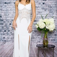 Boho Vision White Maxi Slit Dress