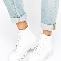 ASOS ABBITH Lace Up Boots at asos.com