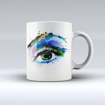 The Soul Stare Eye ink-Fuzed Ceramic Coffee Mug