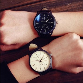 Male And Female Students Minimalist Fashion Personality Big Dial Watch Trendy Gifts [8833442316]