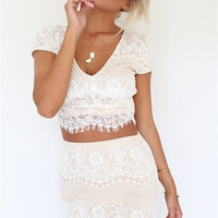 VAL TWO-PIECE LACE DRESS