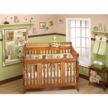 Walmart: Little Bedding by NoJo Dreamland Teddy 10pc Nursery in a Bag Bedding Set