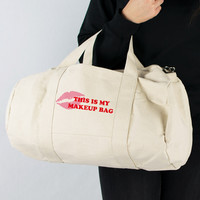 This Is My Makeup Bag Canvas Duffle
