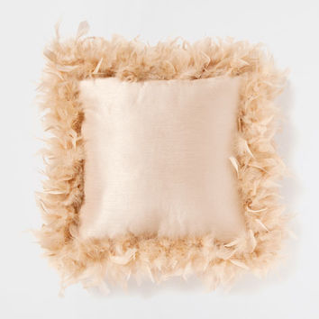 BEIGE FEATHER EDGE CUSHION - Decorative Pillows - Decor and pillows | Zara Home United States