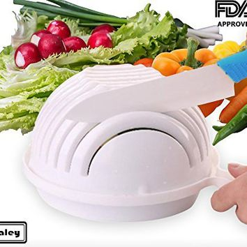 Albaley New 2017 Salad Bowl Cutter in 60 Seconds Fruit Vegetable Practical & Easy Healthy Maker Strainer Chopper.