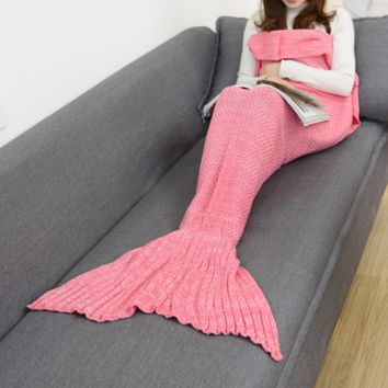 Pink Mermaid Party to Be Adored Blanket