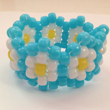 Pick your Color - Daisy Kandi Cuff Bracelet, Child and Adult Size
