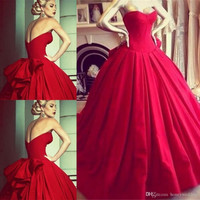 Sweetheart Red A-Line Prom Dresses,Prom Dress