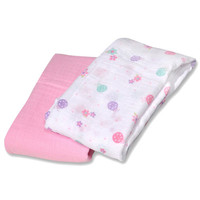 Bornfree-summer Infant Swaddle Blanket - Swaddleme - Muslin - Ltlldy - 2 Ct