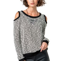 Lauren Cold Shoulder Hacci Top