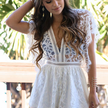 Cabana Lace Detail Romper