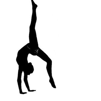 New Ballet Dance Girl Wall Decals Removable DIY Vinyl Art Mural Gymnastics Girls Room Living Room Kid's Room Wall Stickers Home Decoration (Size: 61cm by 61cm, Color: Black)