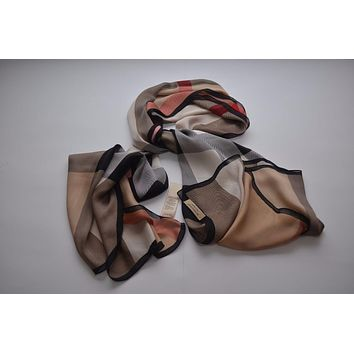Tagre™ Burberry authentic 100% silk scarf