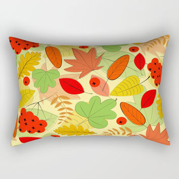 Autumn leaves Rectangular Pillow by Graf Illustration