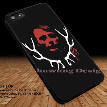 Evil Face Hannibal NBC iPhone 6s 6 6s+ 5c 5s Cases Samsung Galaxy s5 s6 Edge+ NOTE 5 4 3 #movie #hannibal DOP273
