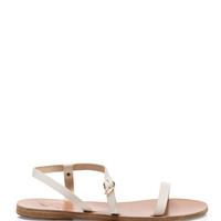 Ancient Greek Sandals Niove Leather Sandals White