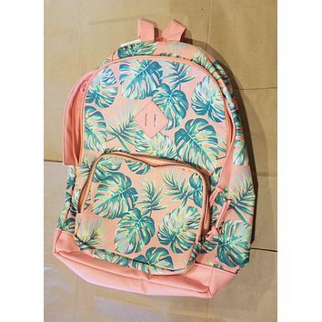 """No Boundaries """"Allie"""" Peach and Green Backpack"""
