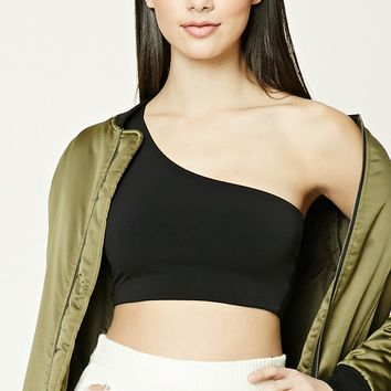 One-Shoulder Crop Top