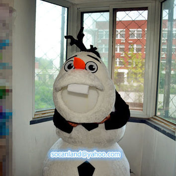 Christmas Frozen Olaf Mascot Costume,Cosplay Costumes,Adults Costumes,Party Costumes,Birthday Costume,Halloween Costume,Olaf Cosplay Costume