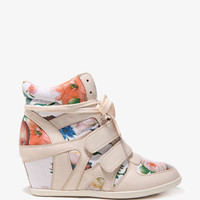 Floral Wedge Sneakers | FOREVER 21 - 2030287267