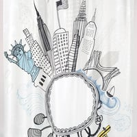 """Empire State"" Shower Curtain, 70"" x 72"""