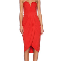 TFNC London Cara Mini Dress in Orange