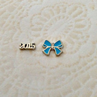 Floating charms  for living lockes 2015 ... Blue cheer bow