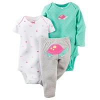 Carter's Animal Bodysuit & Solid Pants Set - Baby Girl, Size: