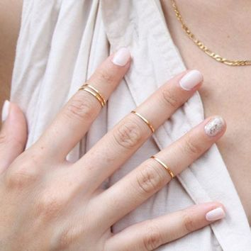 Set of 4 Midi Rings - FINAL SALE
