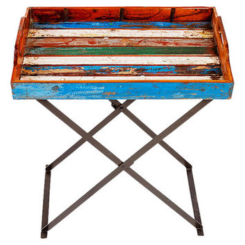 EcoChic Lifestyles Topside Reclaimed Wood Tray & Stand