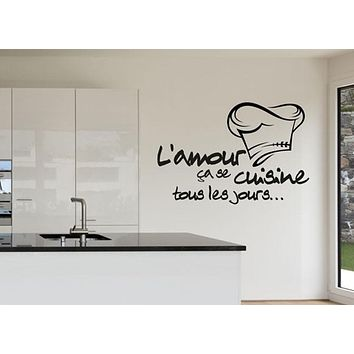Cuisine Sticker Vinyl Decal Kitchen Tile Chef Wall Decor