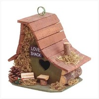 Wood Love Shack Birdhouse