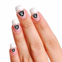 NFL Oakland Raiders 4-Pack Temporary Nail Tattoos