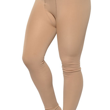 BadAssLeggings Women's Warm Winter Stirrup Leggings Medium Skin Color