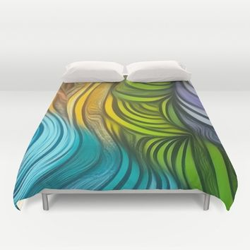 CHRISTONS MAZE Duvet Cover by violajohnsonriley