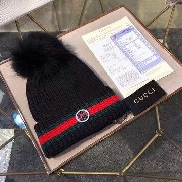 PEAPNQ2 GUCCI Fashion Rhinestone Beanies Knit Winter Hat Cap2