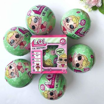6PCS LOL Surprise Doll 7 Layers Removable Egg Ball Surprise Ball Series 2 Doll Blind Mystery Ball Girls Toys L.O.L. Dolls Makeup