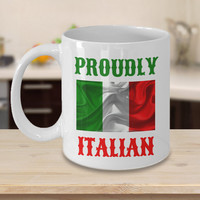Proudly Italian Personalized Mug Birthday Gift For Coffee Lover Him Her Men Women Dad Mom Father Mother Boyfriend Girlfriend Customized