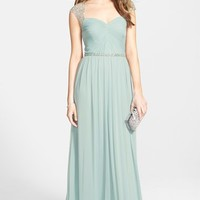 Women's Hailey by Adrianna Papell Embellished Shirred Jersey Gown